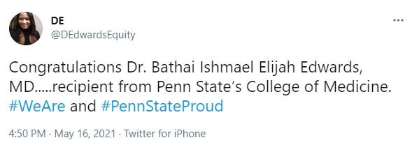 A screenshot of a tweet from D. Edwards.