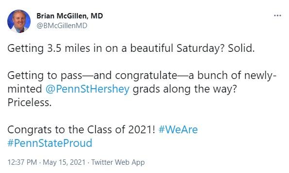 A screenshot of a tweet from Brian McGillen, MD.